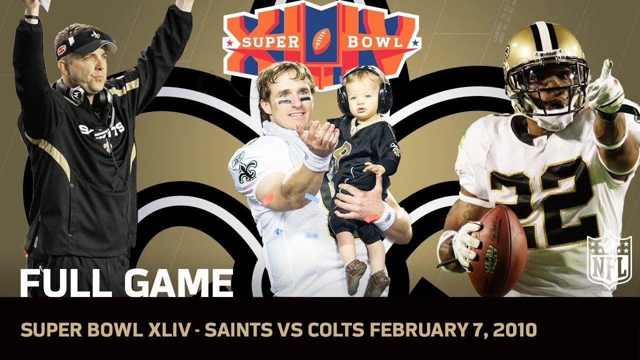 Super Bowl Xliv: Saints First Super Bowl | Saints Vs. Colts | Nfl Full Game throughout Saints Last Super Bowl