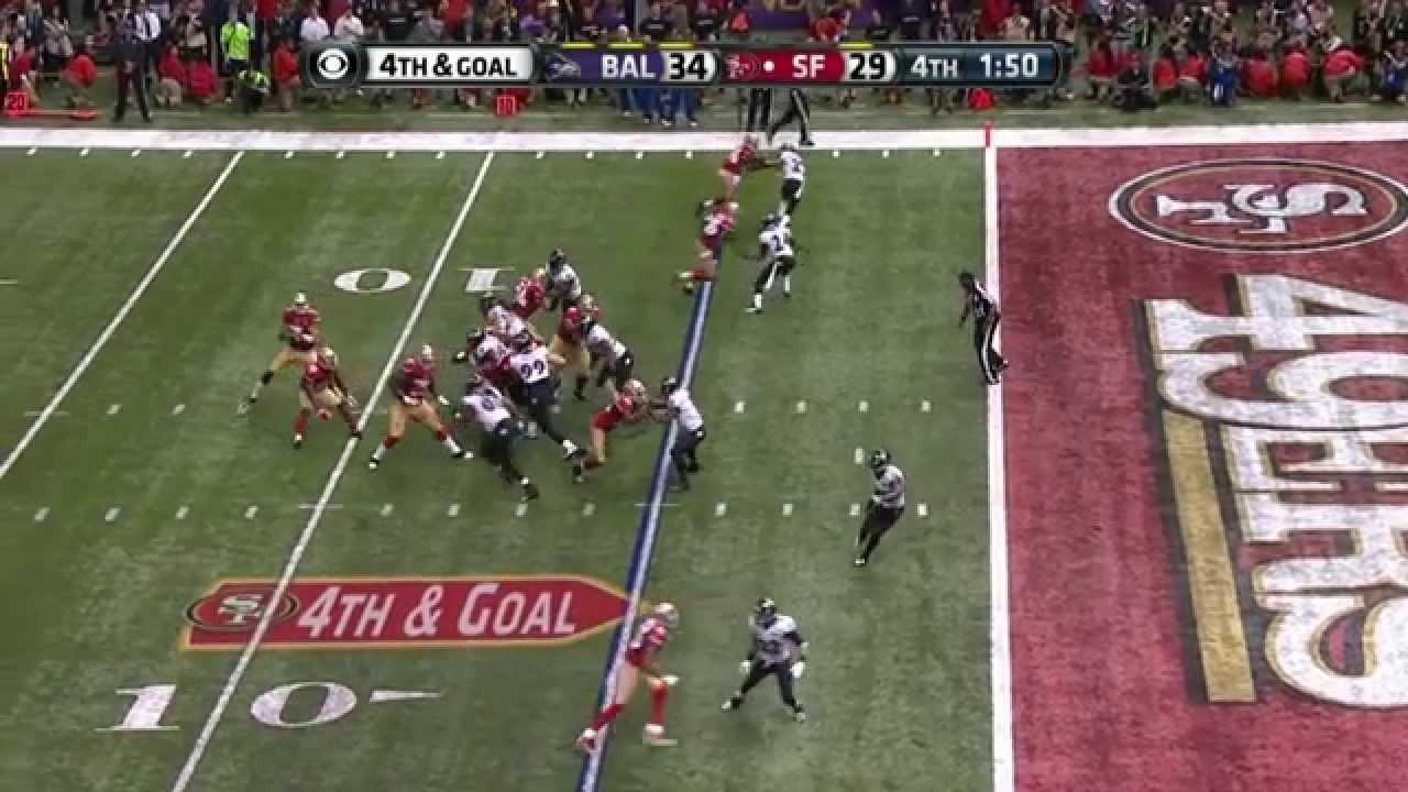 Super Bowl Xlvii Ravens Vs 49Ers 4Th Down Play Slow Mo regarding 49Ers Last Super Bowl