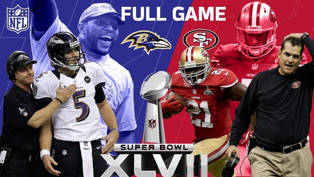 "Super Bowl Xlvii: ""the Harbaugh Bowl"" Aka ""the Blackout"" | Ravens Vs. 49Ers  | Nfl Full Game within Ravens 49Ers Super Bowl"