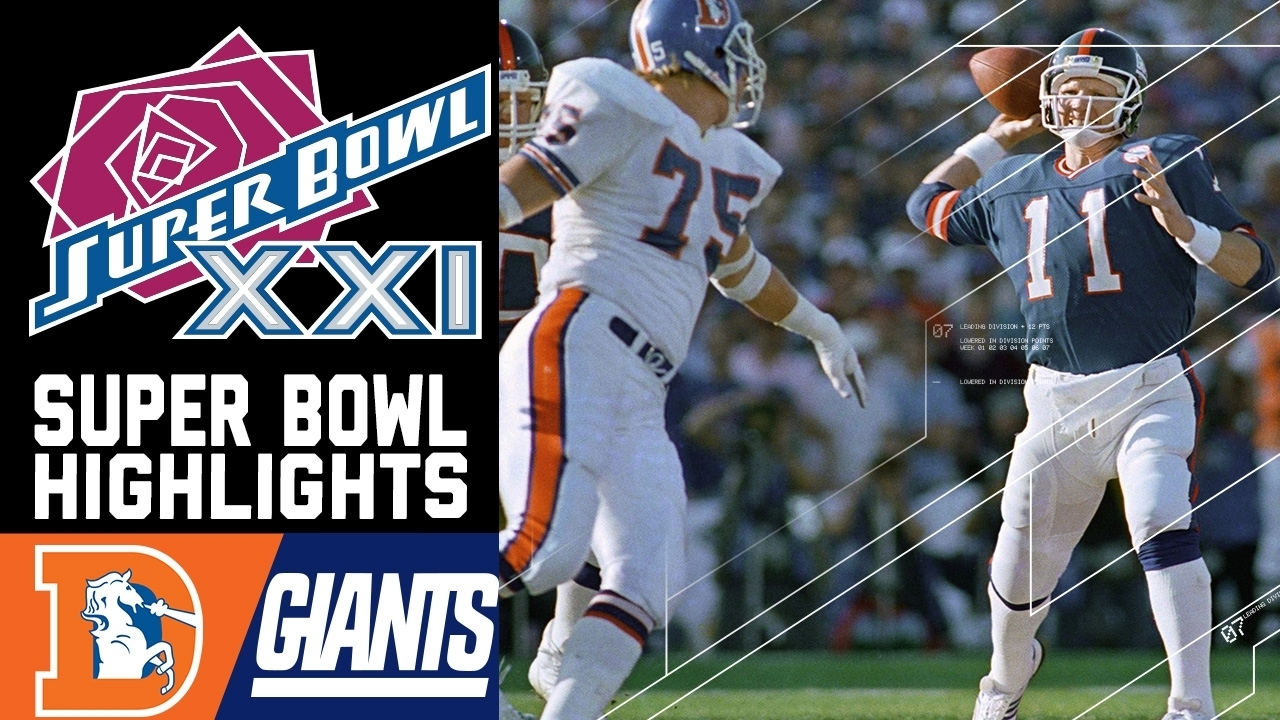 Super Bowl Xxi: Broncos Vs. Giants | Nfl for New York Giants Nfl Championships 1987