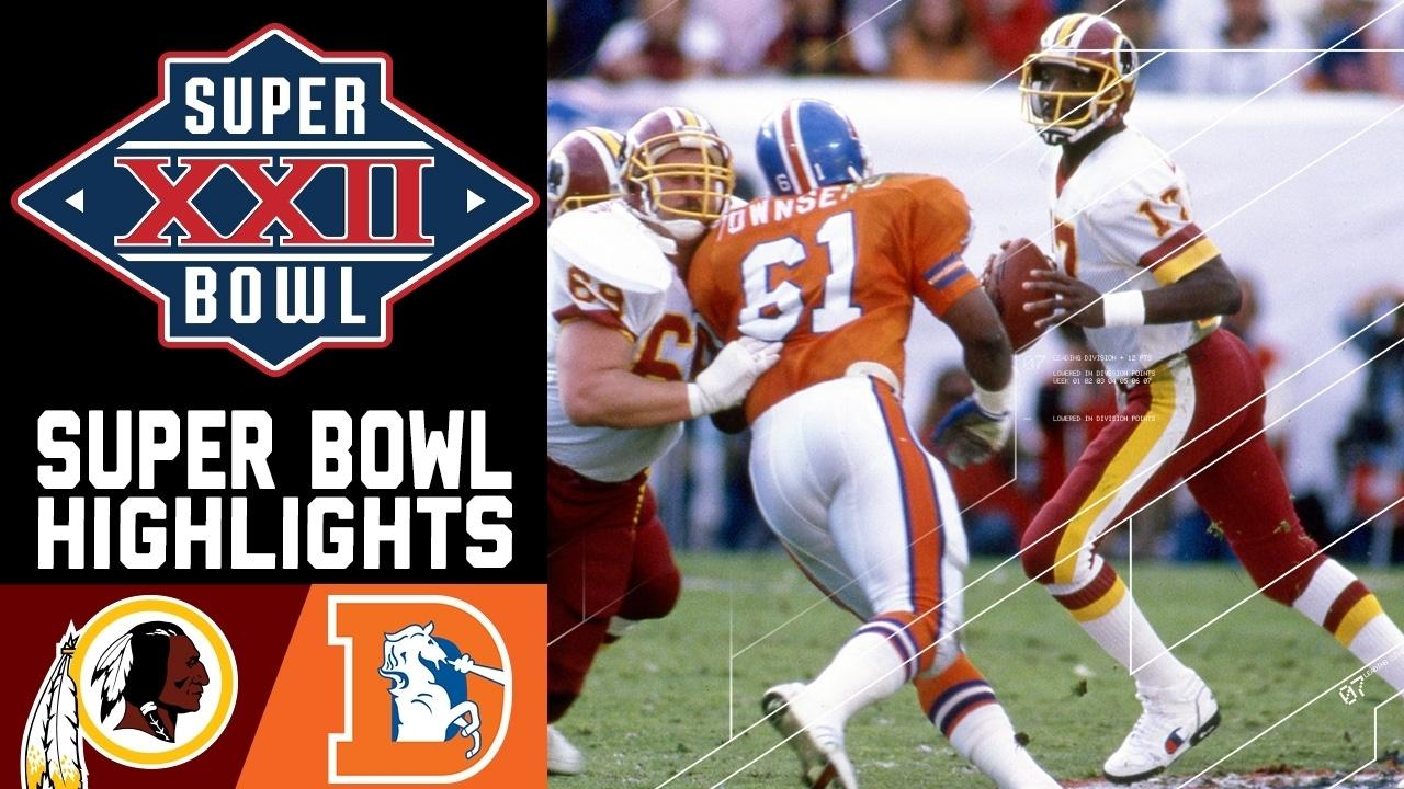 Super Bowl Xxii: Redskins Vs. Broncos | Nfl inside Doug Williams Super Bowl