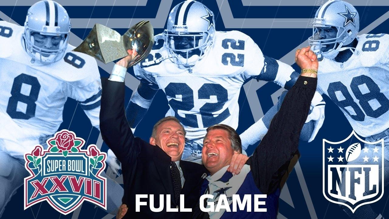 "Super Bowl Xxvii: ""the Start Of A Dynasty"" | Dallas Cowboys Vs. Buffalo  Bills | Nfl Full Game regarding Cowboys Last Super Bowl"