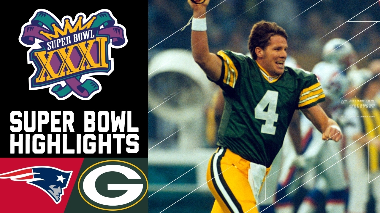 Super Bowl Xxxi Recap: Patriots Vs. Packers | Nfl in Brett Favre Super Bowl
