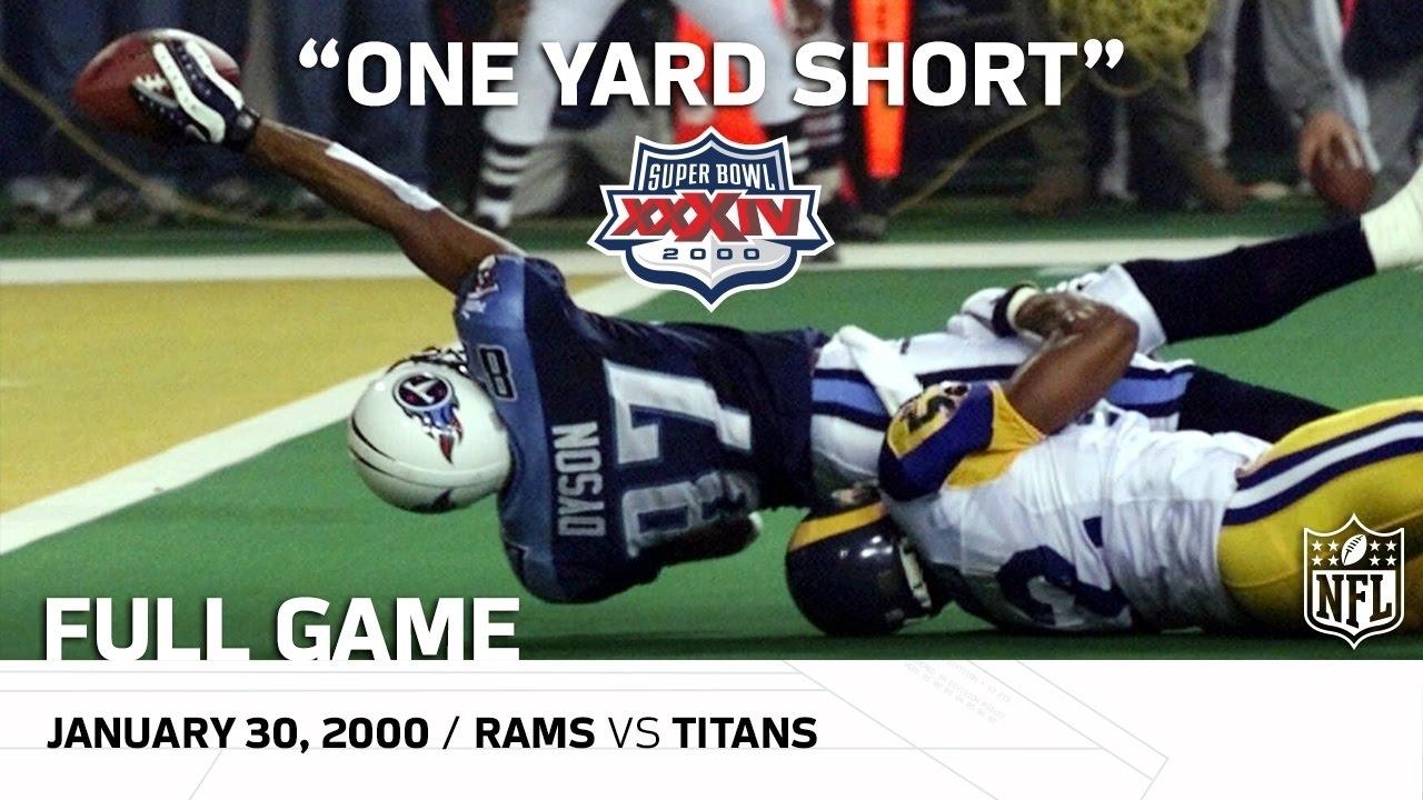 "Super Bowl Xxxiv: ""one Yard Short"" | Rams Vs. Titans | Nfl Full Game pertaining to Tennessee Titans Super Bowl"