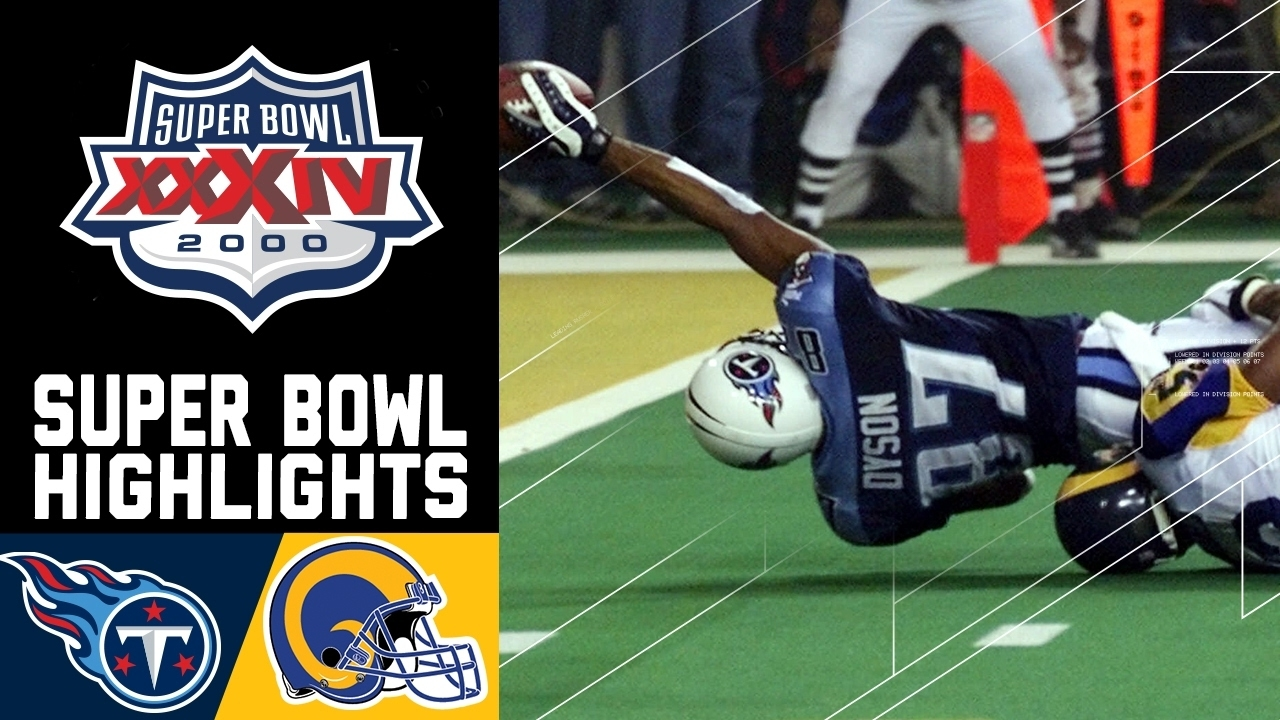 Super Bowl Xxxiv Recap: Rams Vs. Titans | Nfl throughout Tennessee Titans Super Bowl