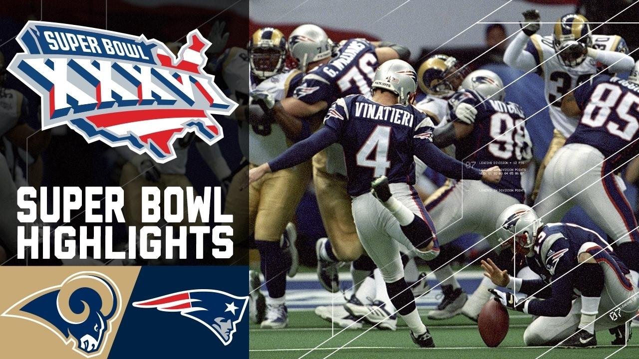 Super Bowl Xxxvi: Rams Vs. Patriots (#3) | Top 10 Upsets | Nfl pertaining to Rams Last Super Bowl