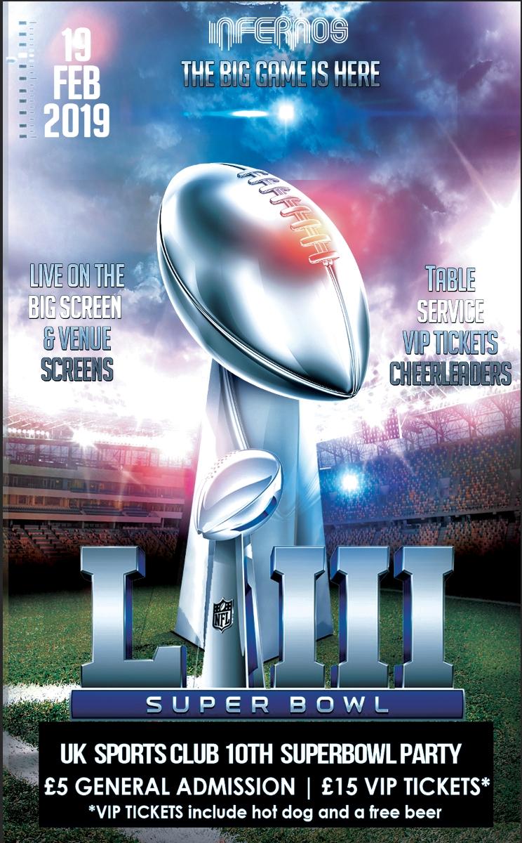 Superbowl 2019 | Clapham, London Sport Reviews | Designmynight within Super Bowl 2019 Tickets