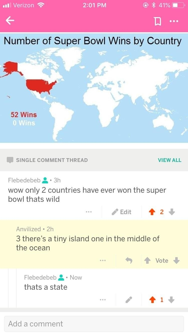 Superbowl Wins : Facepalm for Super Bowl Wins By Country Map