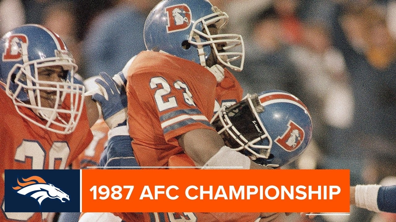 The 1987 Afc Championship Game Checks In At No. 22 On The Nfl's 100  Greatest Games inside New York Giants Nfl Championships 1987