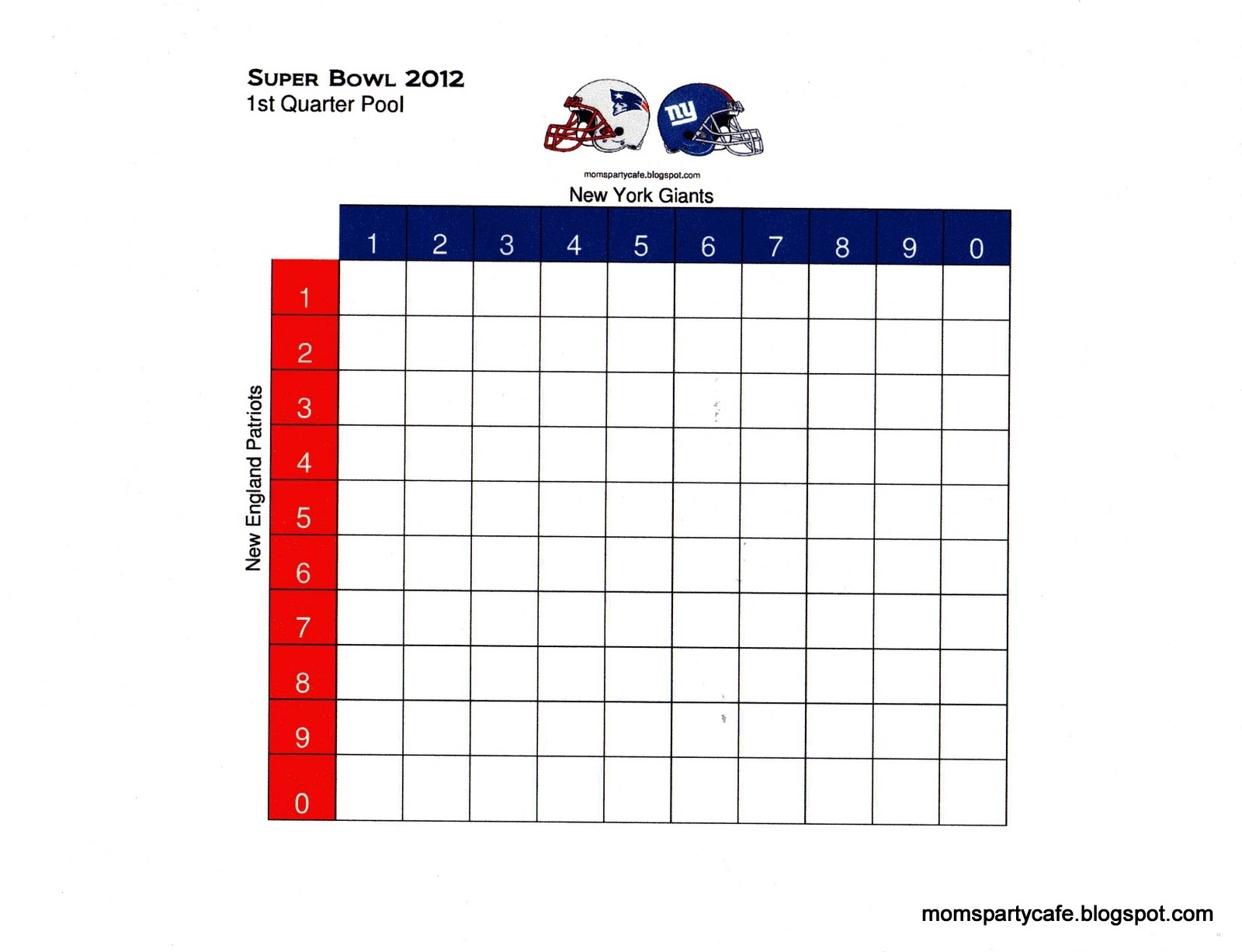 The Optimal Strategy For Playing Squares | The Harvard throughout Super Bowl Board Layout