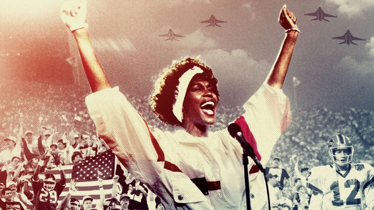 The Story Of Whitney Houston's Epic National Anthem within Whitney Houston Super Bowl