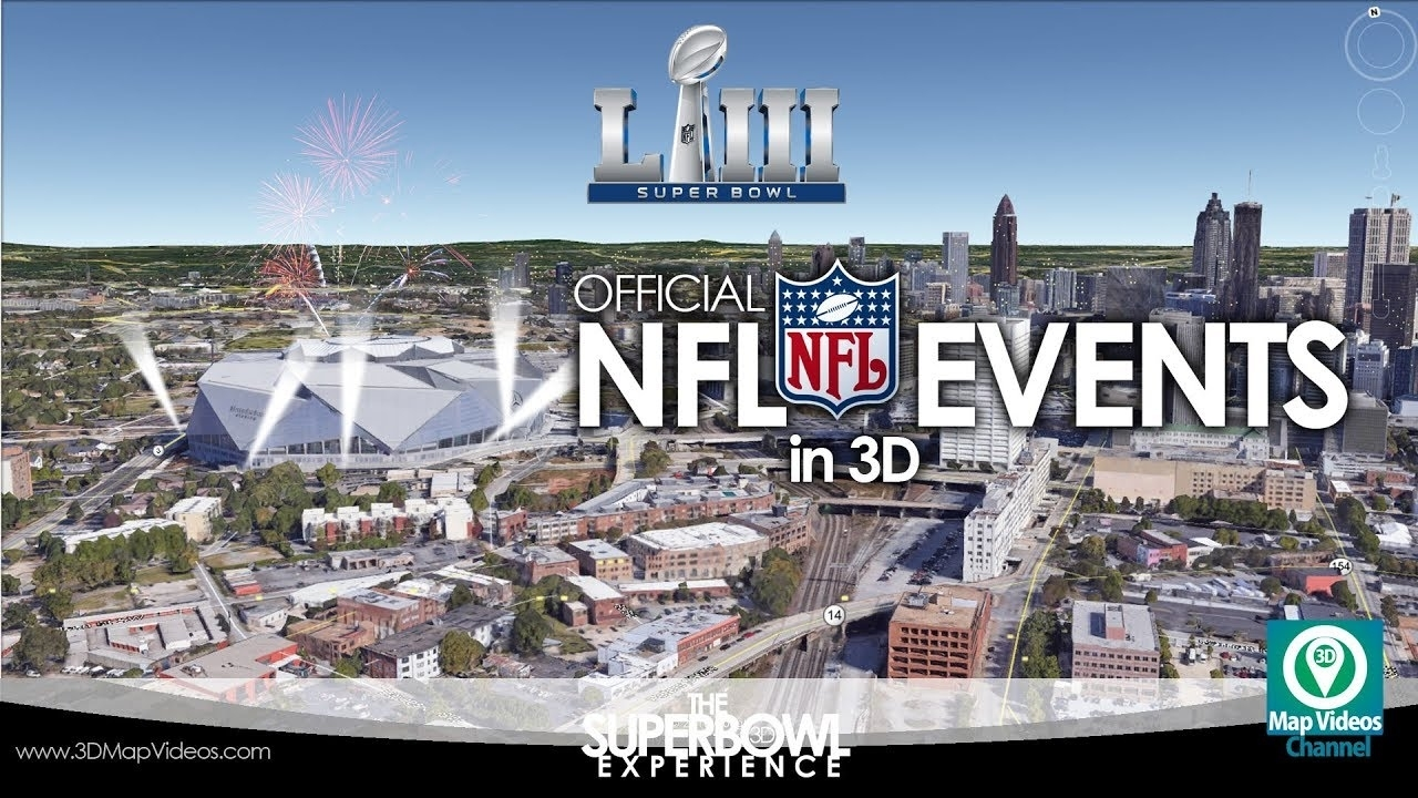 The Super Bowl Experience In Atlanta In 3D - Youtube pertaining to Super Bowl Experience Atlanta Map