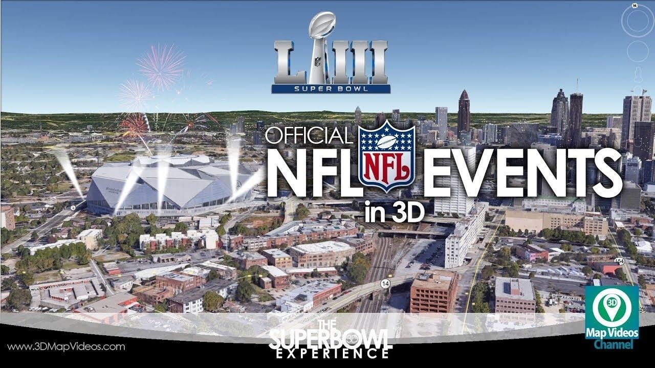 The Super Bowl Experience In Atlanta In 3D - Youtube pertaining to Super Bowl Experience Atlanta Map
