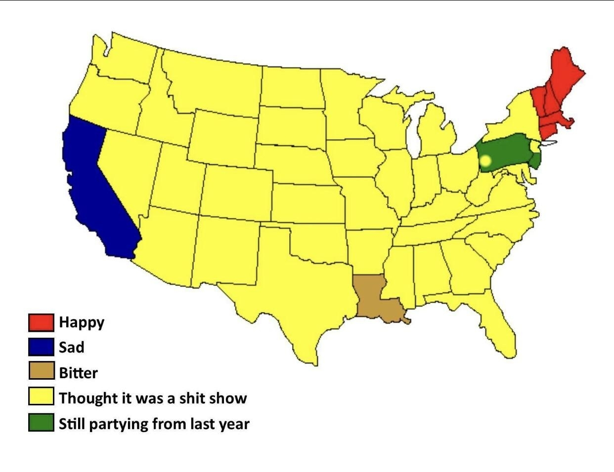 The Super Bowl In One Picture : Funny in Map Of Super Bowl Fans