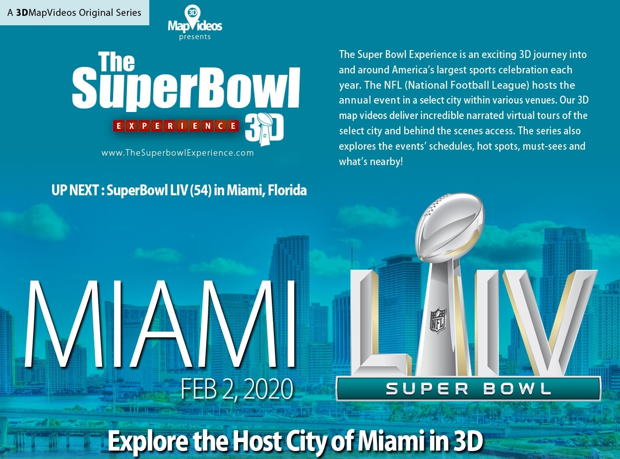The Superbowl Experience Series throughout Super Bowl Experience Map