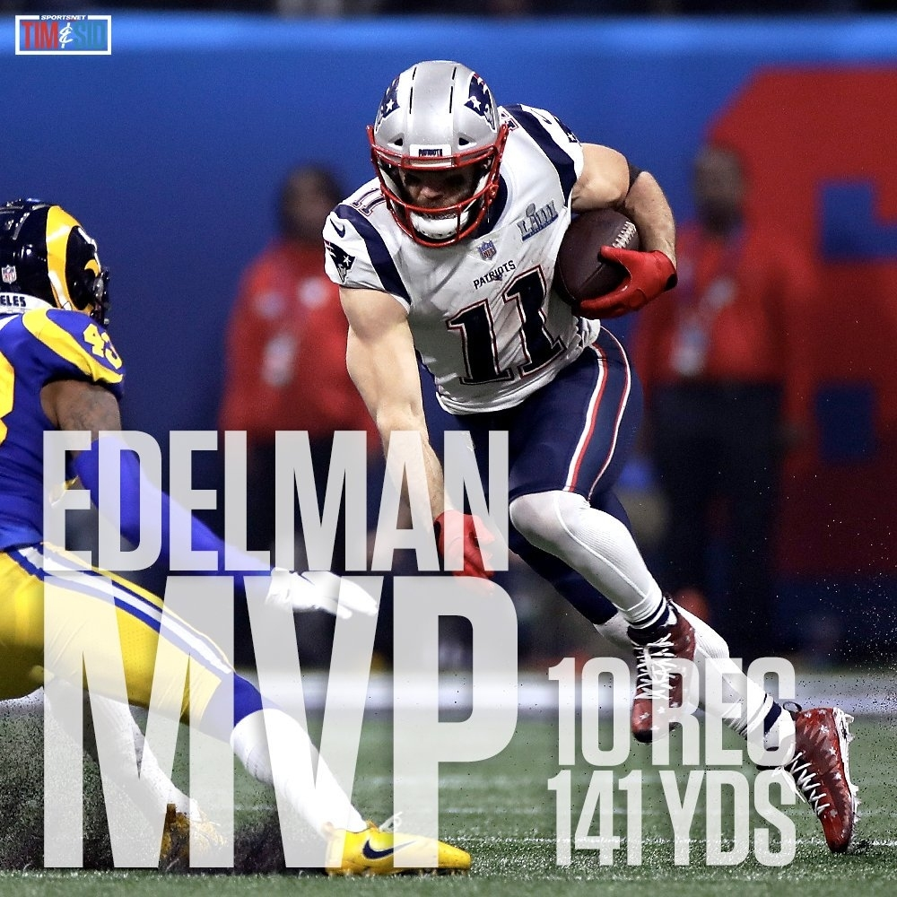 """Tim And Sid On Twitter: """"julian Edelman (@edelman11) Is The in Super Bowl 2019 Mvp Voting Online"""