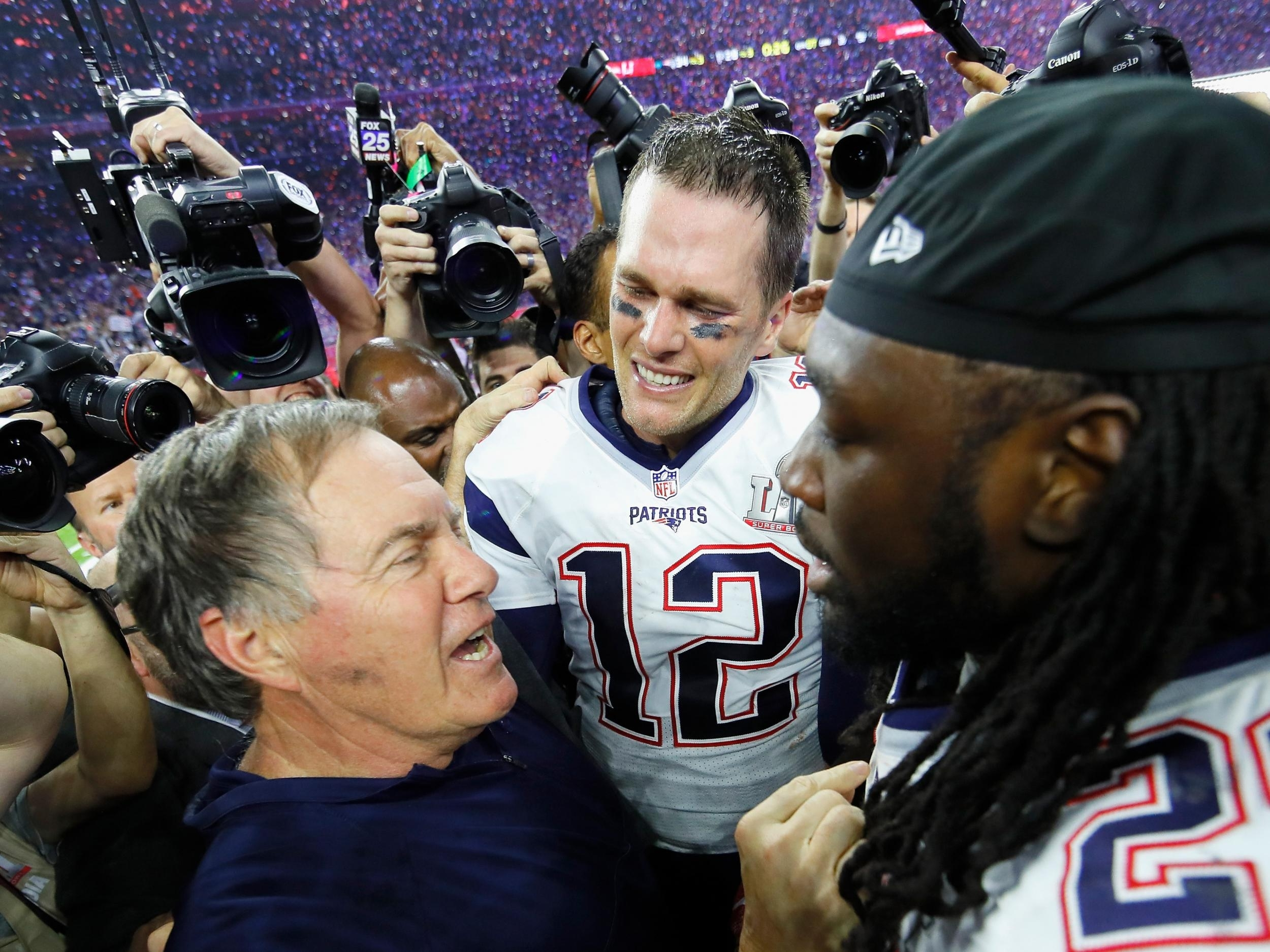 Tom Brady, Bill Belichick, The New England Patriots And for Super Bowl 25 Winner