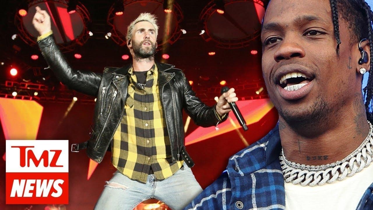 Travis Scott's Joining Maroon 5 For Super Bowl 53 Halftime Show In Atlanta  | Tmz Newsroom Today pertaining to Maroon 5 Travis Scott