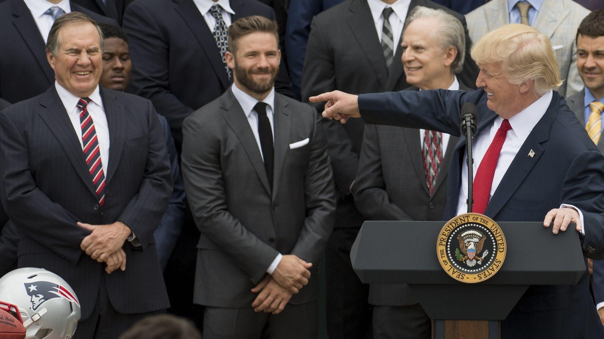 Trump Picks Patriots To Win Super Bowl - Axios with regard to Trump Super Bowl Kraft