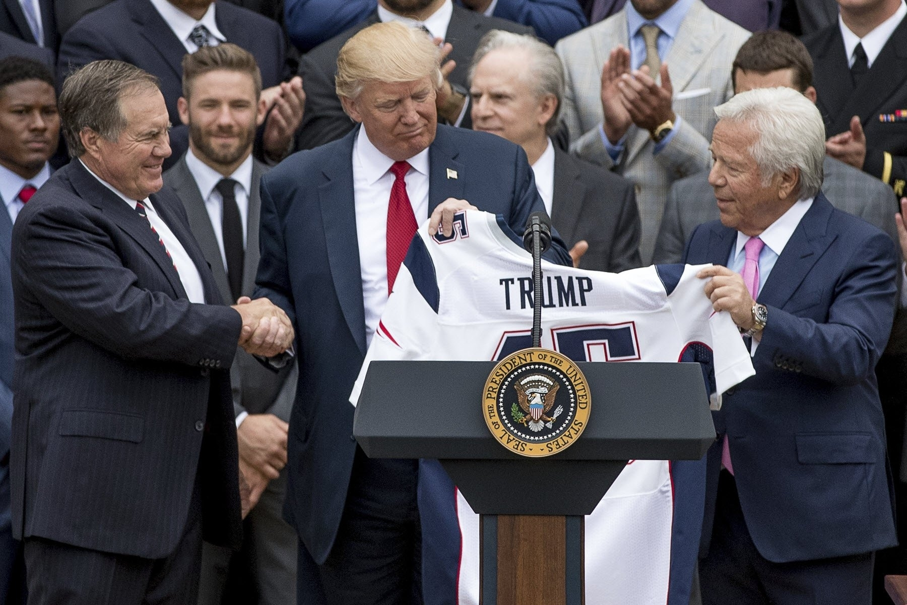 Trump Received A Super Bowl Ring From Patriots Owner Robert with Trump Super Bowl Kraft