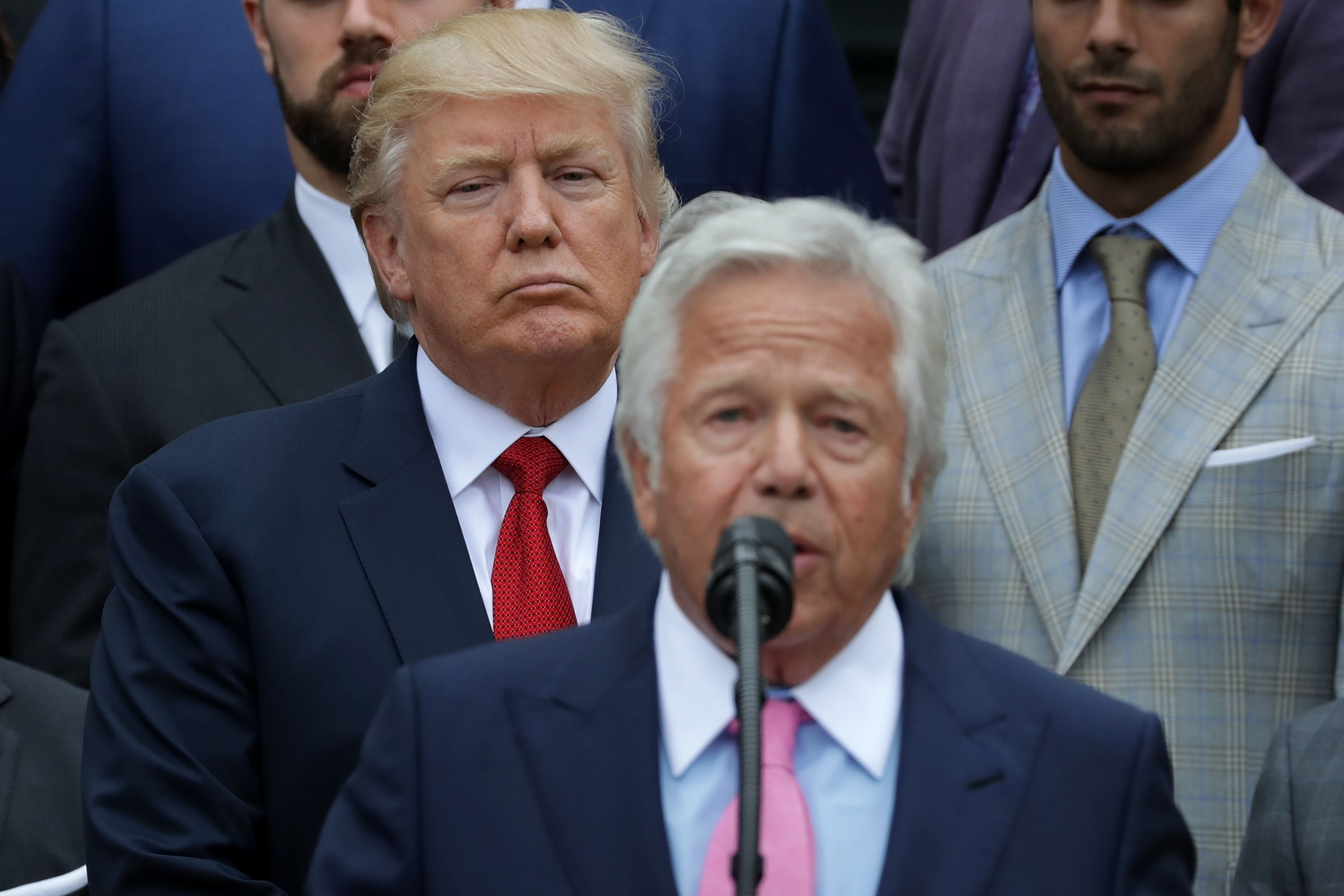 Trump Watched Super Bowl With Founder Of Massage Parlor for Trump Super Bowl Kraft