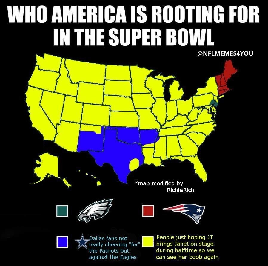 Twitter | Nfl Nosense | Cowboys Vs Patriots, Eagles, Super throughout Super Bowl Map Meme