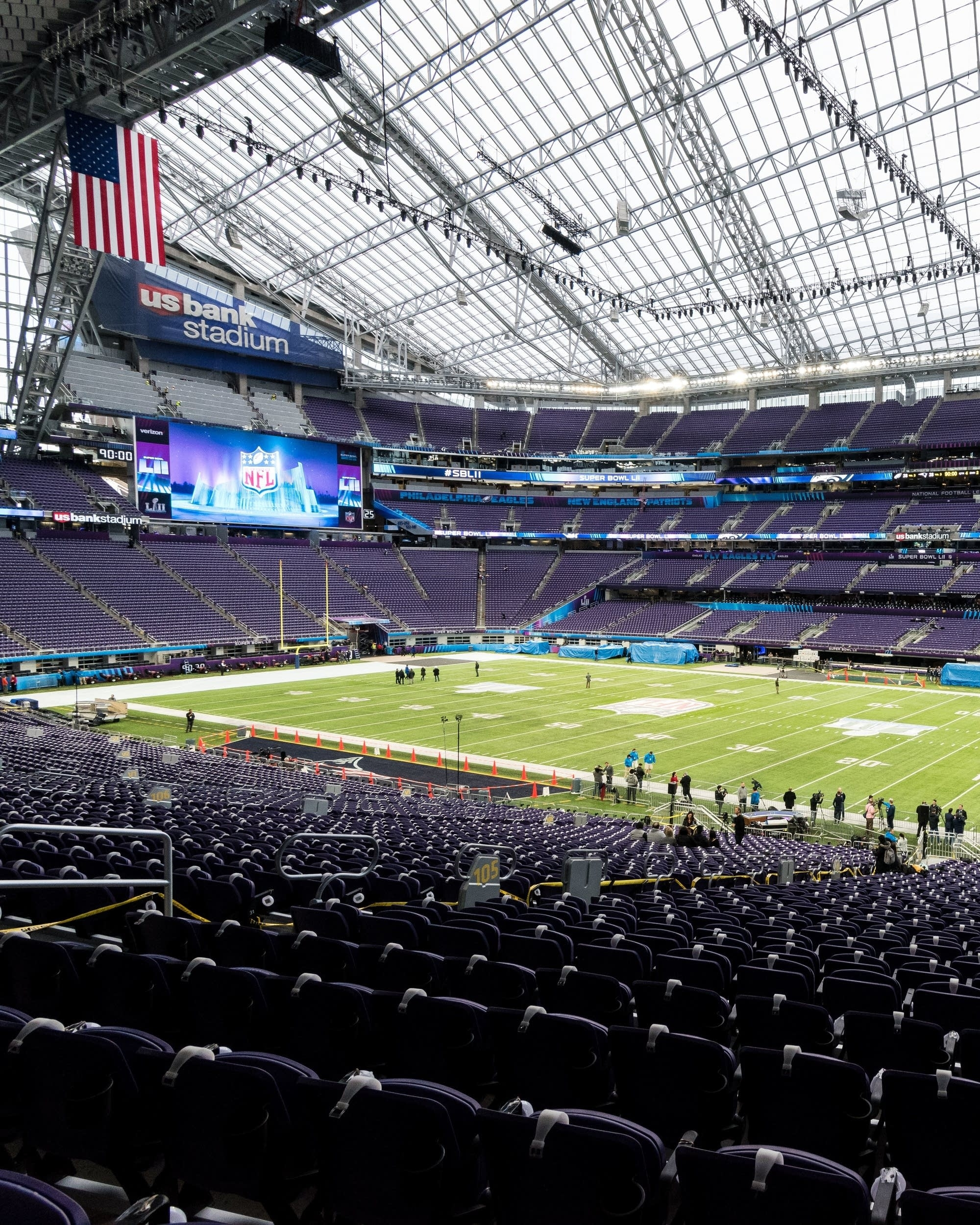 U.s. Bank Stadium Gets A Makeover Before The Super Bowl inside Super Bowl Seating Capacity Requirements