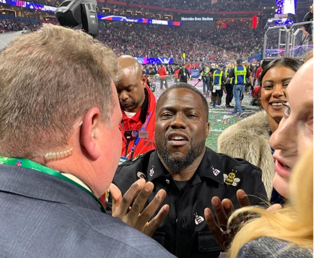 Video: Kevin Hart Blocked From Super Bowl Field Yet Again 'i pertaining to Kevin Hart Super Bowl