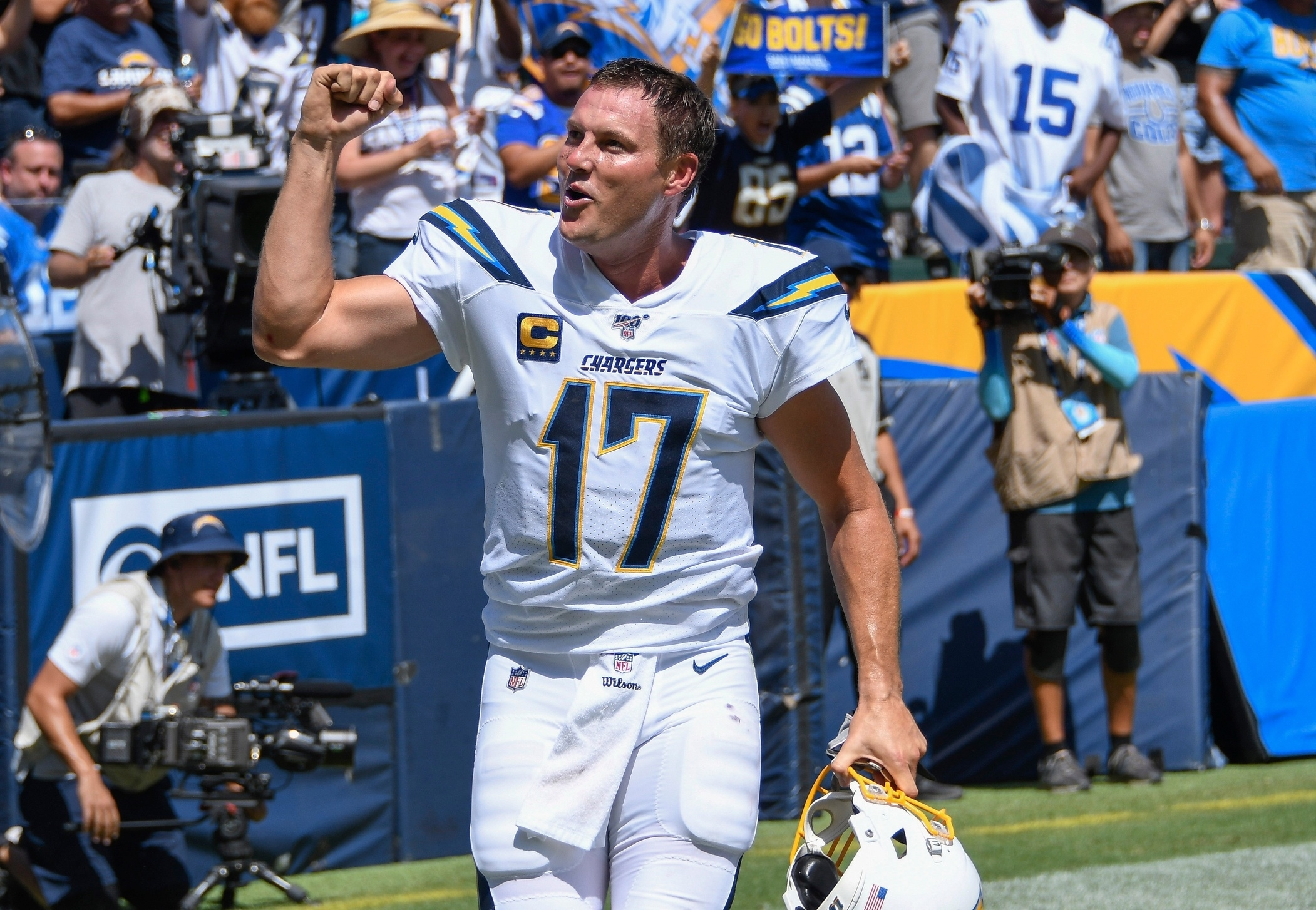 Watch: Philip Rivers Greeting Some Special Visitors Before Game with regard to Philip Rivers Super Bowl