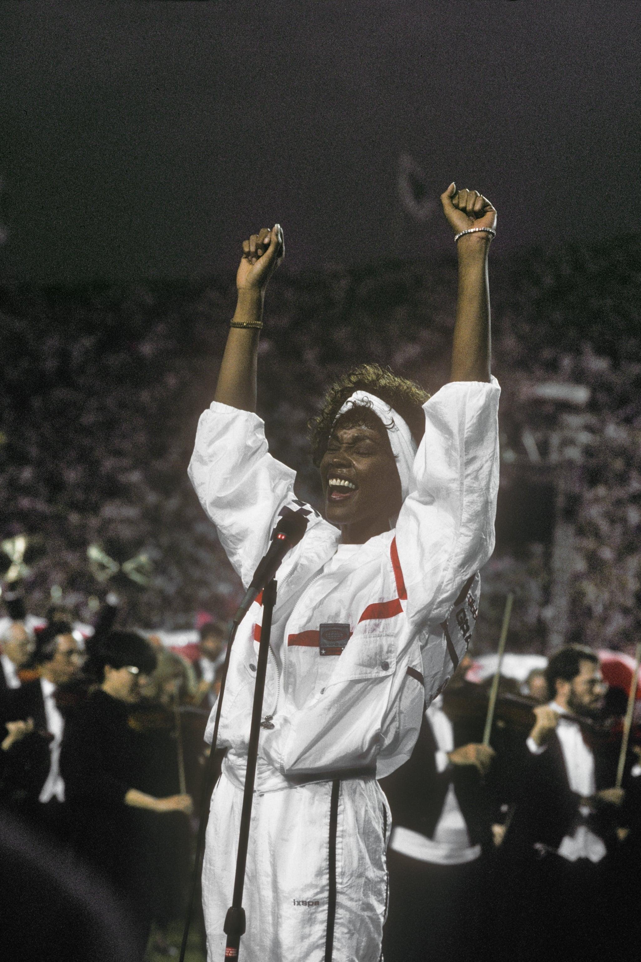 Whitney Houston, 1991   Throwback Thursday: Super Bowl regarding Whitney Houston Super Bowl