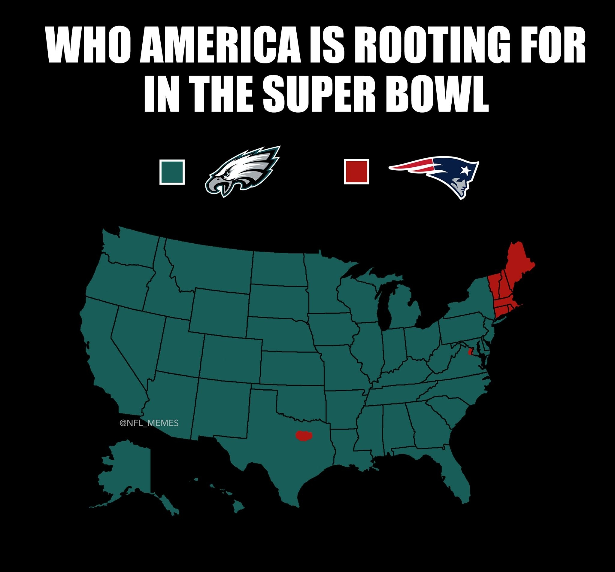Who America Is Rooting For In The Super Bowl - Common Sense for Map Of Who Is Rooting For Super Bowl