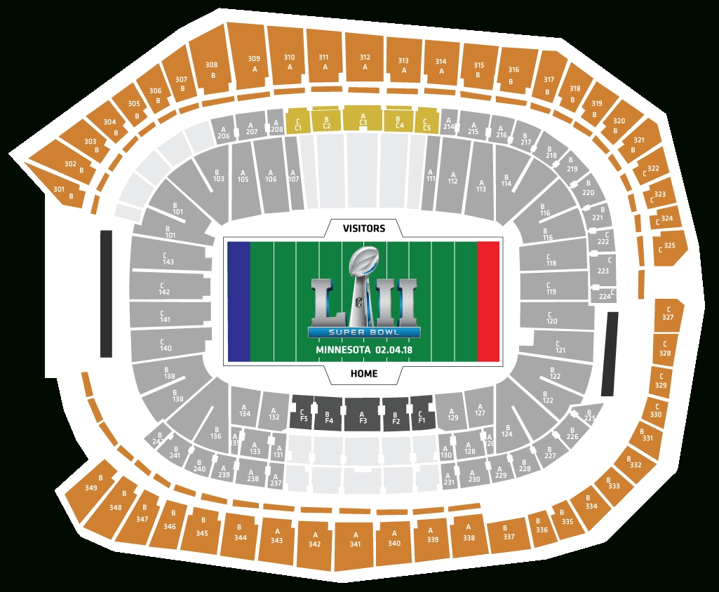 Your 2018 Super Bowl Ticket Package Breakdown for Seating Chart For Super Bowl