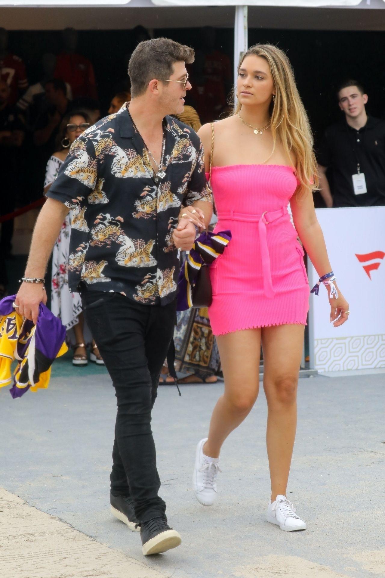 April Love Geary And Robin Thicke - Pre-Super Bowl Party In regarding Super Bowl Party Miami 2020