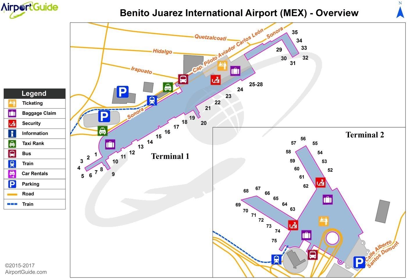 Benito Juarez Aeroporto Mappa - Aeroporto Internazionale inside Aeroporto Di Miami Mappa