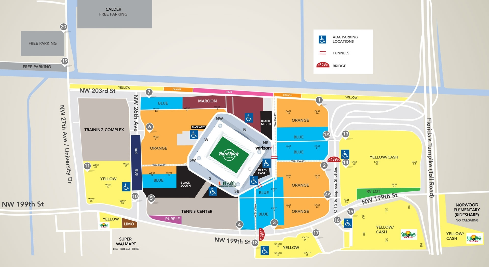 Best Hard Rock Stadium Parking From $25 (2020) Rates + Reviews intended for Hard Rock Stadium Miami Florida Map