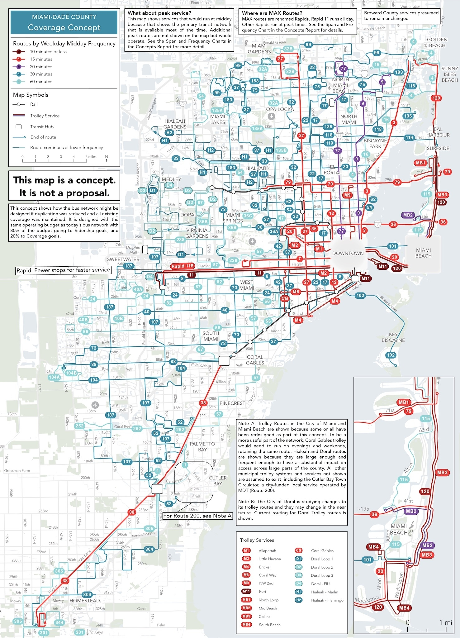 Better Bus Project: Take The Network Concepts Survey For within Map Of Miami Bus Routes