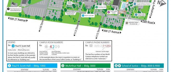 Campus Map & Directions - North Campus | Miami Dade College intended for Map Miami Dade College