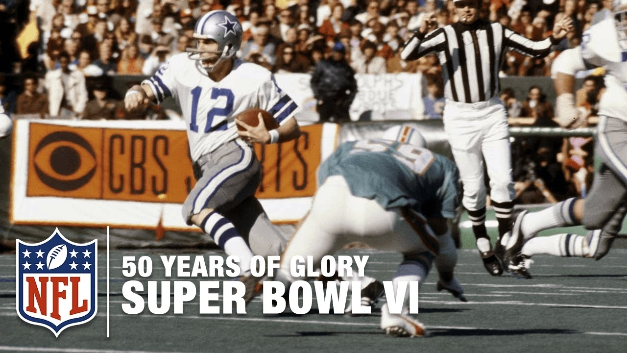 Cowboys Vs. Dolphins: Super Bowl Vi Highlights | 50 Years Of Glory | Nfl with Dallas Miami Super Bowl