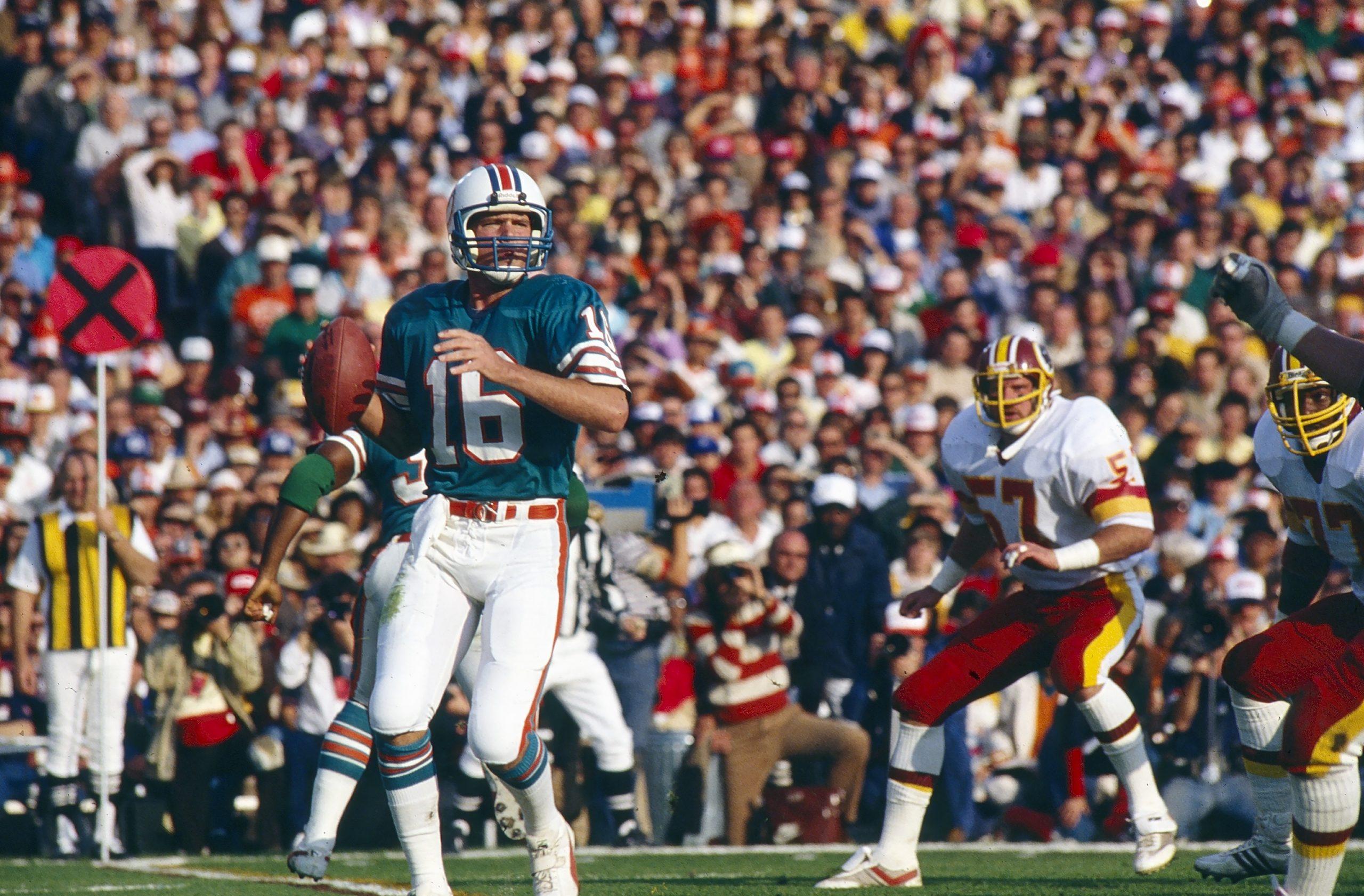 Dan Marino, Miami Dolphins Vs. Washington Redskins At 1983 regarding Miami Super Bowl Marino