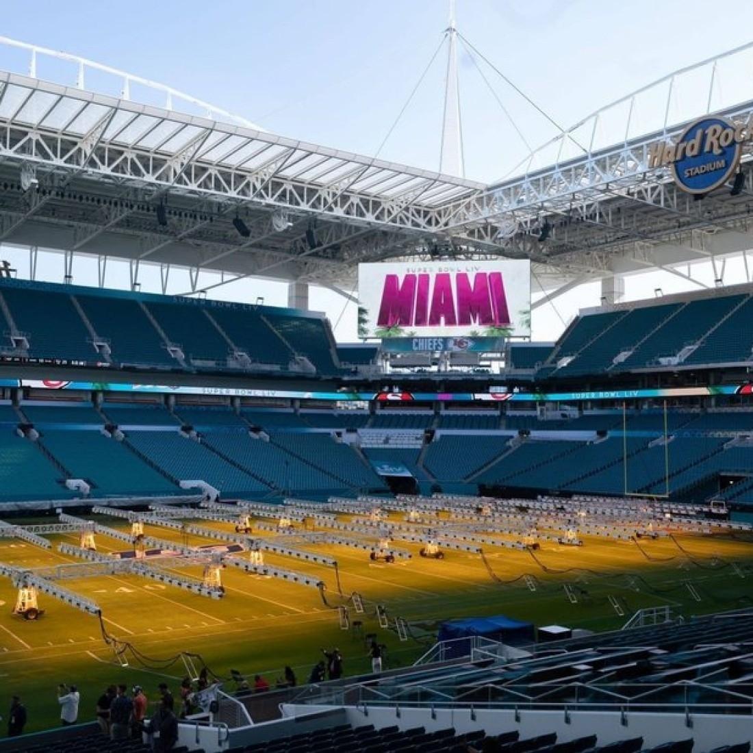 Das Nfl-Finale In Zahlen: Der Super Bowl: Ein Wochenende Der for Miami Minnesota Super Bowl