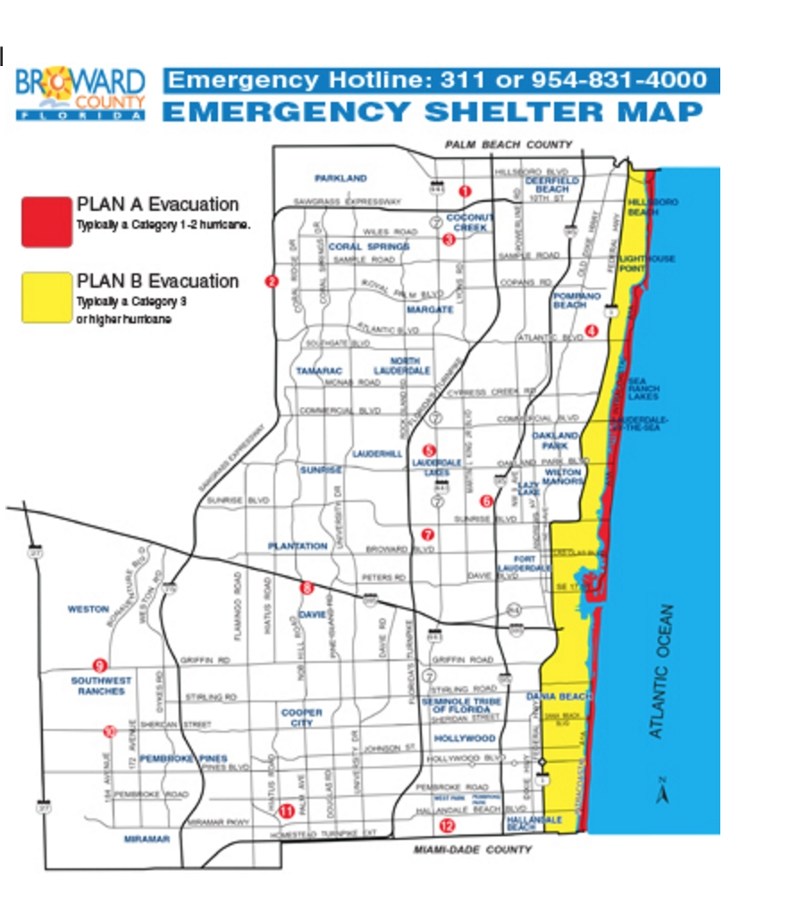 Do You Know Where The Nearest Hurricane Shelter Is? Here Is inside Miami Beach Senior High School Map