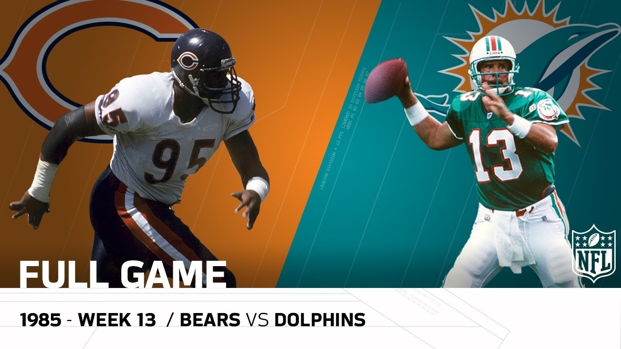 Dolphins End '85 Bears Undefeated Season (Week 13, 1985) | Bears Vs.  Dolphins | Nfl Full Game in Bears Super Bowl Miami