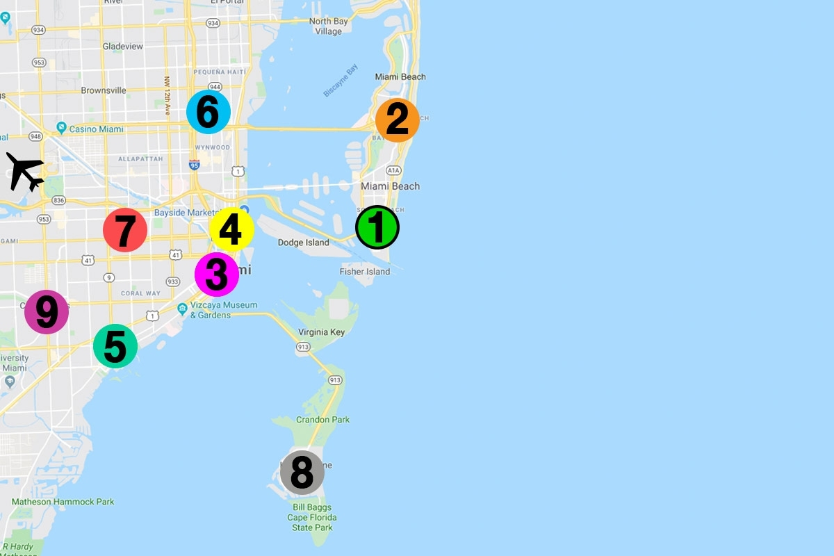 Dónde Alojarse En Miami: Mejores Zonas Y Hoteles 2020 Para regarding Mapa De Miami Beach Con Hoteles
