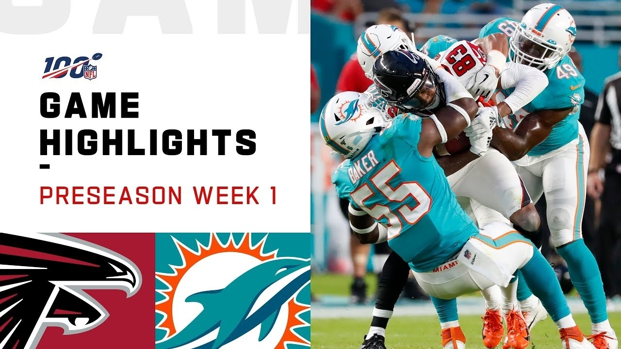 Falcons Vs. Dolphins Preseason Week 1 Highlights | Nfl 2019 intended for Super Bowl Miami 2019