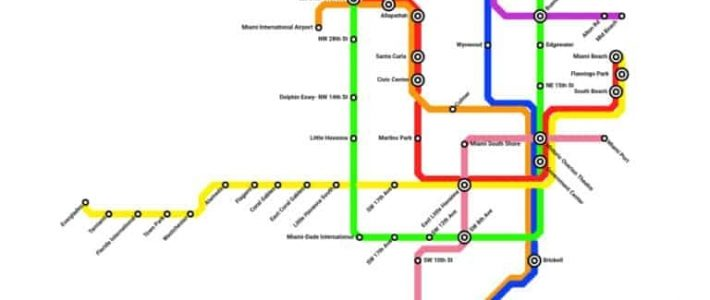 Fantasy Metrorail Map Includes Miles Of Rail Line Across inside Miami Metrorail Expansion Map