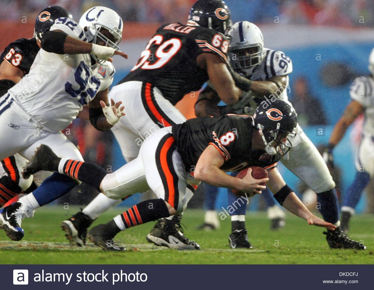 Feb 04, 2007 - Miami, Florida, Usa - Bears Quarterback #8 throughout Bears Super Bowl Miami