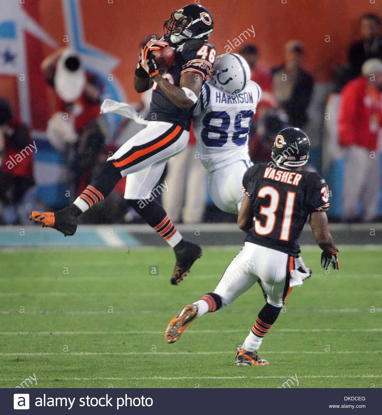 Feb 04, 2007 - Miami, Florida, Usa - Chicago Bears Safety throughout Bears Super Bowl Miami