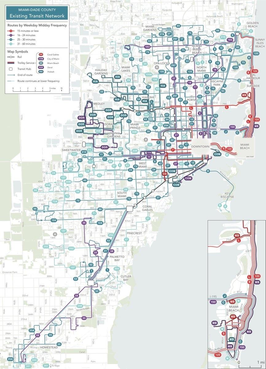 Fec Greenway (@fecgreenway)   Twitter in Miami Bus 150 Map
