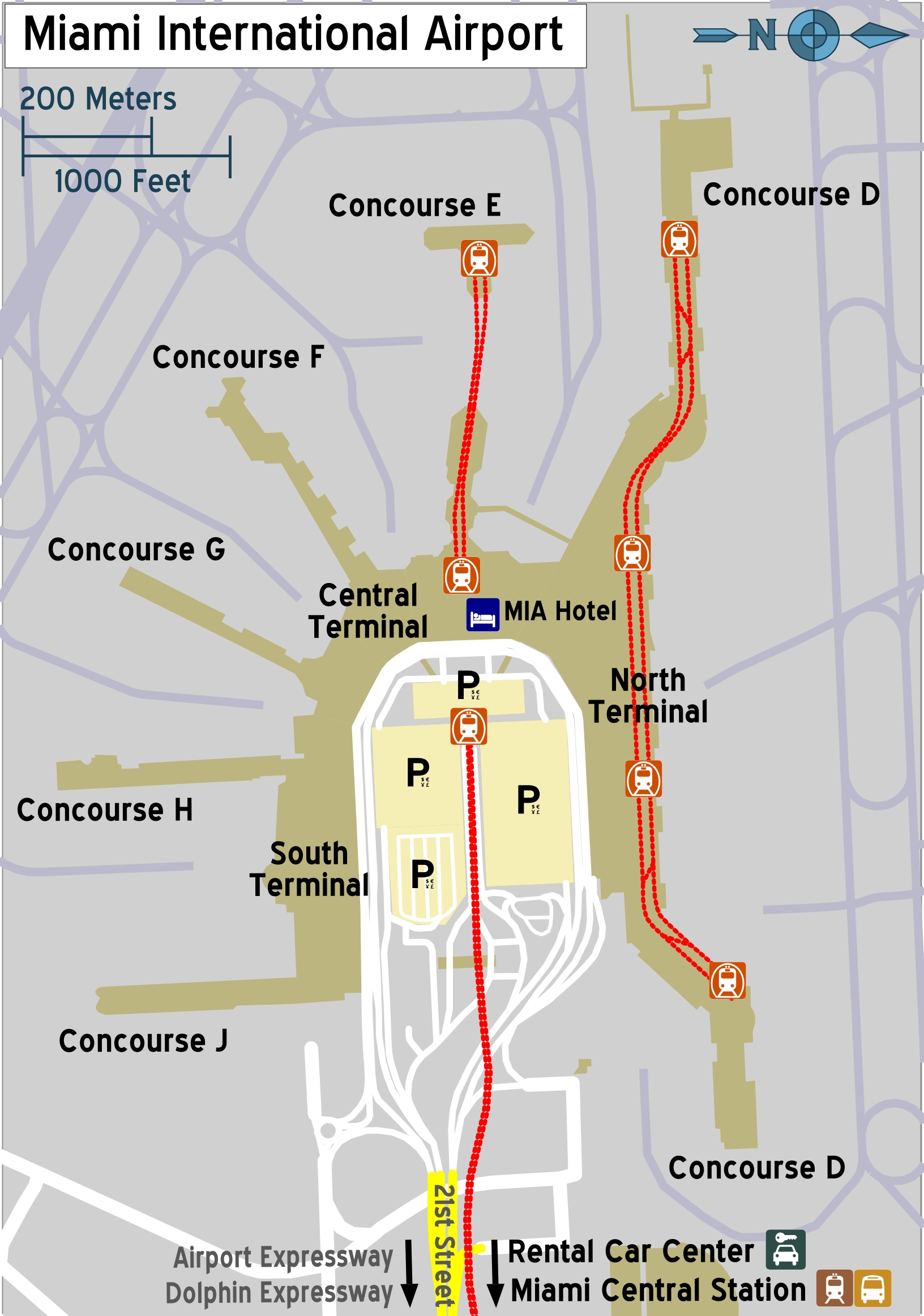 File:miami Airport Map – Travel Guide At Wikivoyage intended for Miami Airport Location Map