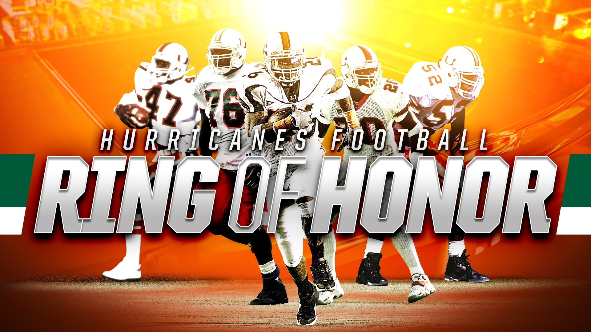 Five Legends Selected To Football Ring Of Honor - University inside Miami Hurricanes With Super Bowl Rings